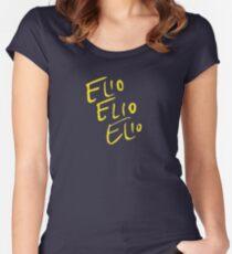 Elio Elio Elio cmbyn Schriftart Tailliertes Rundhals-Shirt
