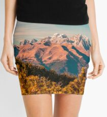 Sunny autumn day at the mount Tersadia in the italian alps Mini Skirt