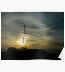 in the morning dark there be rainbow rings around the sun Poster