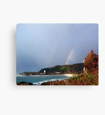 Waimea Bay Rainbow Canvas Print