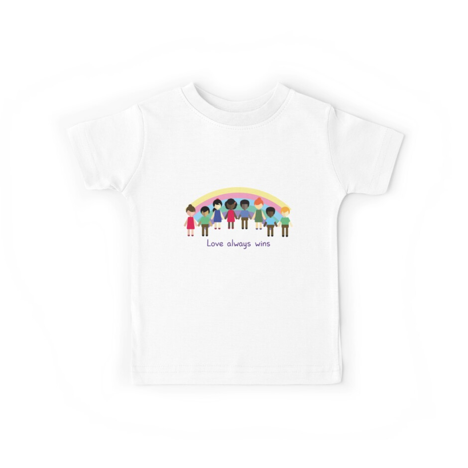 Love Always Wins Kids Tees By Julianamotzko Redbubble