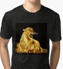 Golden Cat Tri-blend T-Shirt