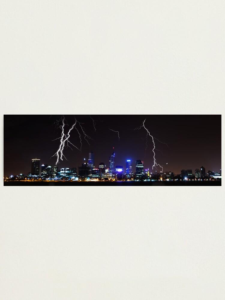 Alternate view of Perth Lightning Photographic Print