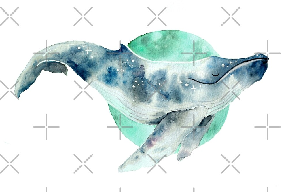 «Ballena cosmo» de Sarah  Mac Illustration