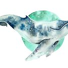 Cosmo Whale by Sarah  Mac Illustration