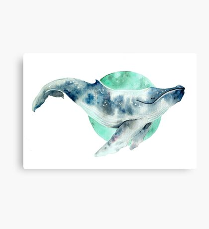Cosmo Whale Canvas Print