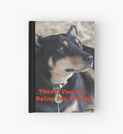 Thank you for being my friend...card Hardcover Journal