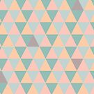 Geomatric shapes pastel colors by foxyprintdesign