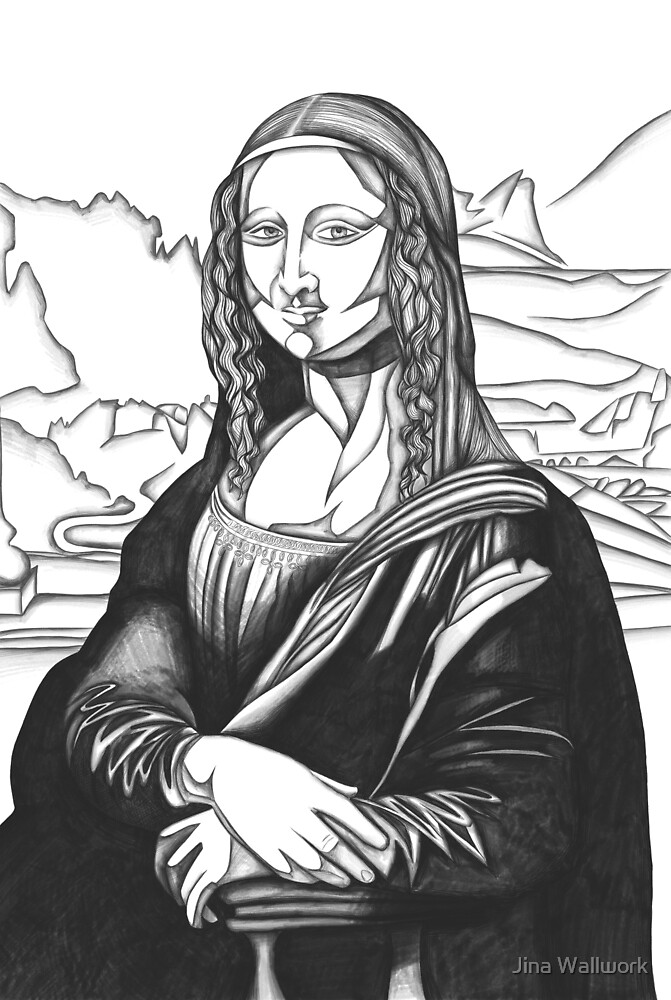 Mona Lisa 20 by Jina Wallwork