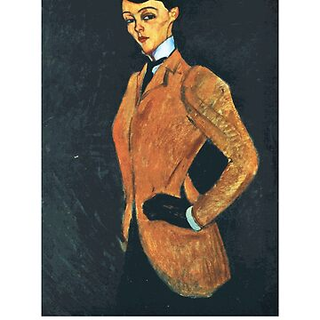 Woman in a Yellow Jacket (aka The Amazon) by Amedeo Modigliani by Chunga
