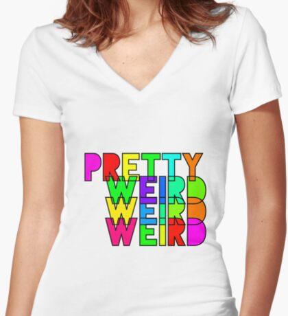 Pretty Weird Women's Fitted V-Neck T-Shirt