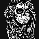 Sugar Skull Girl Tattoo by Skullz23