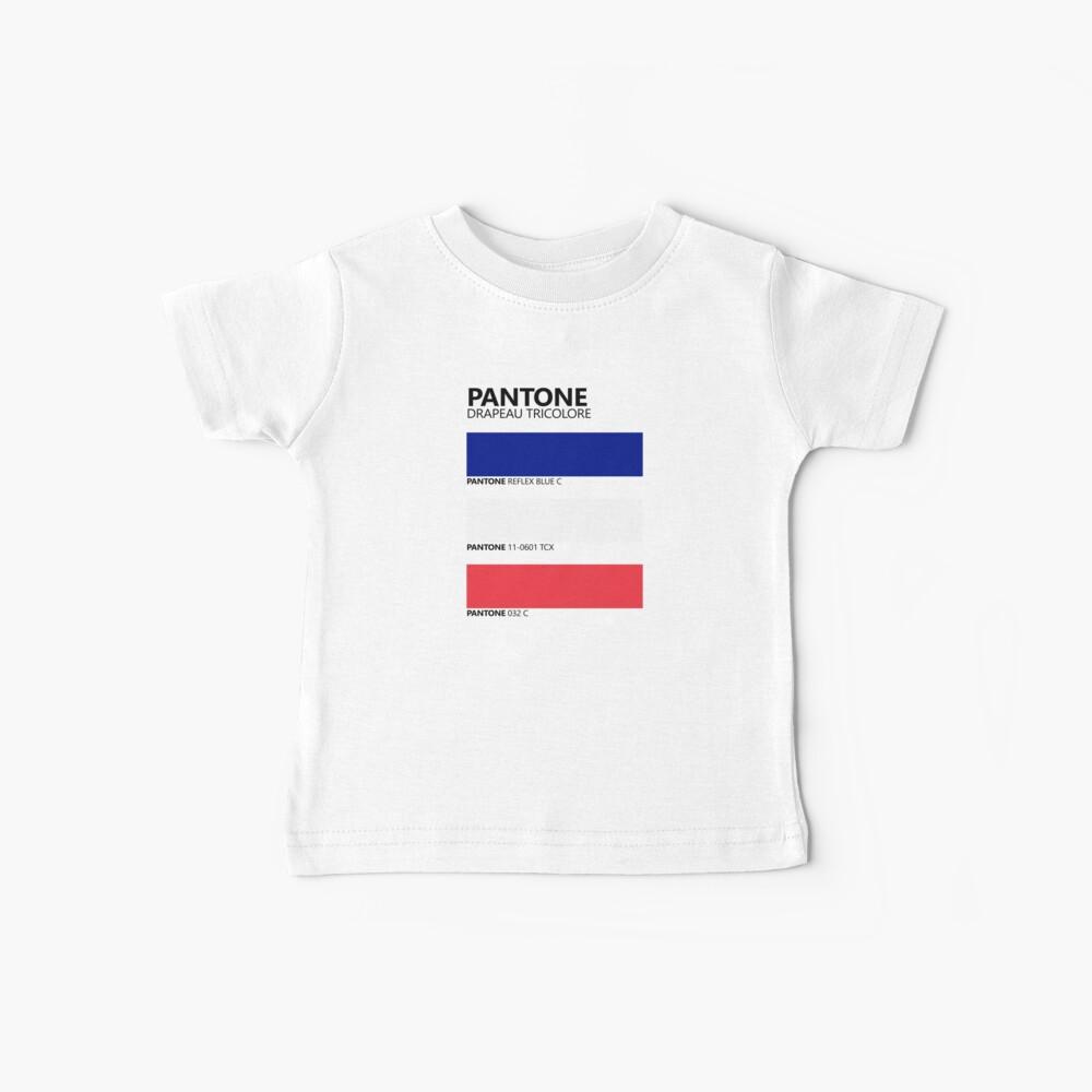 Pantone Drapeau Tricolore Paleta de colores de bandera francesa Camiseta para bebés