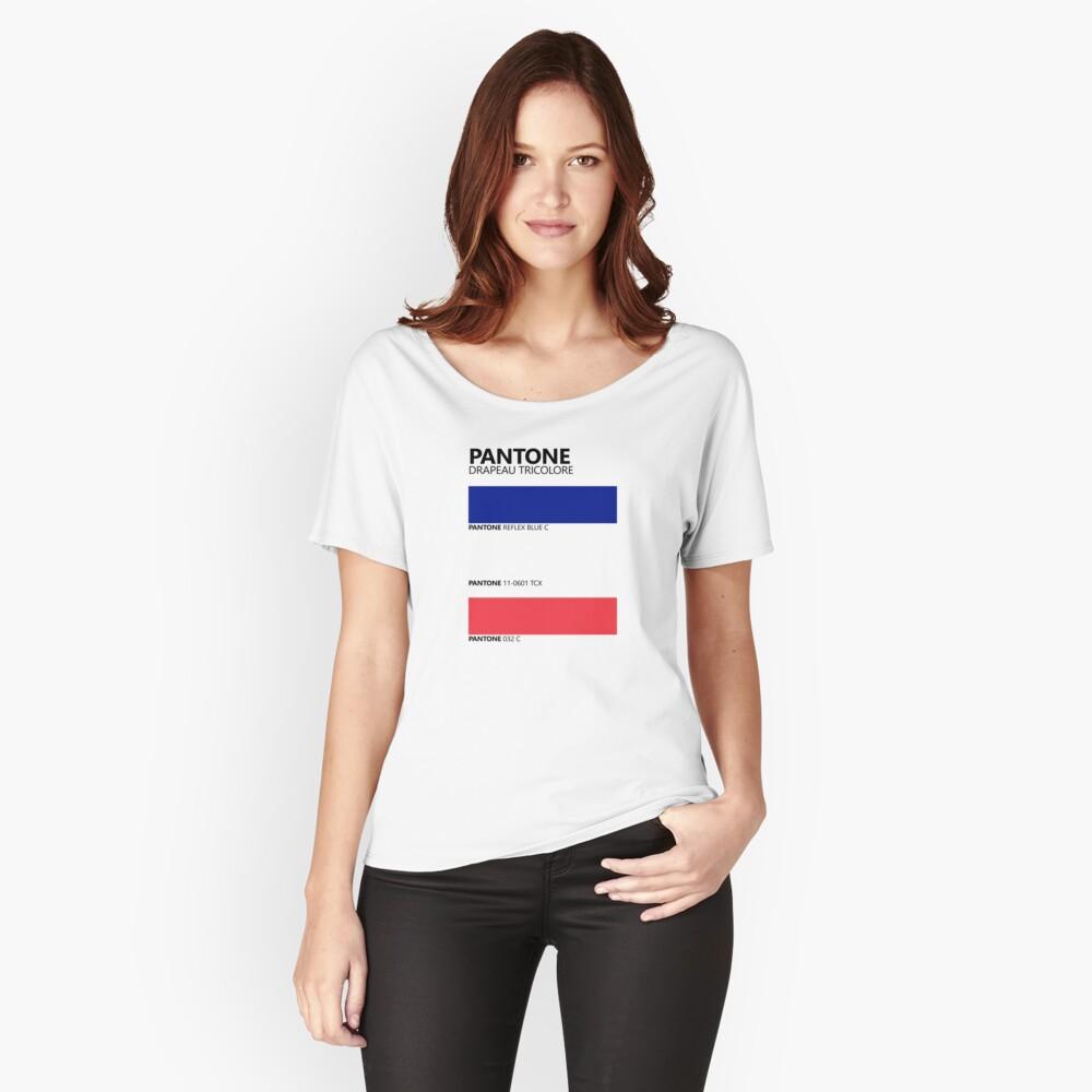 Pantone Drapeau Tricolore Paleta de colores de bandera francesa Camiseta ancha