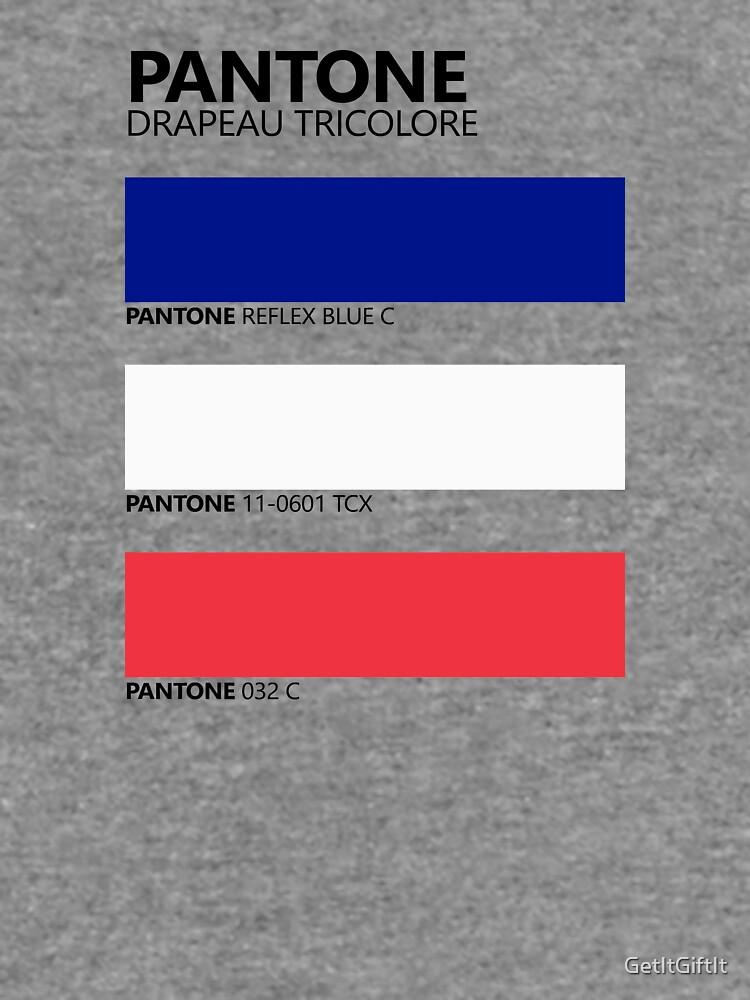 Pantone Drapeau Tricolore Paleta de colores de bandera francesa de GetItGiftIt
