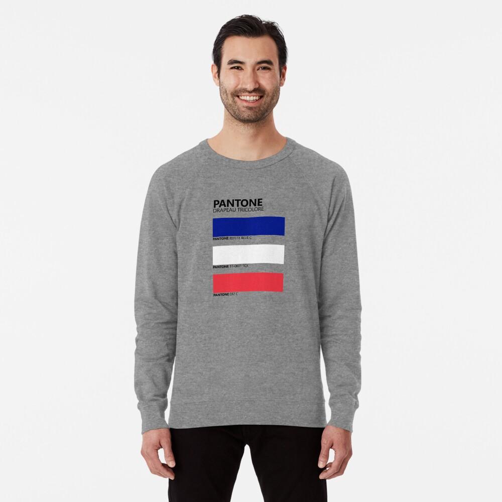 Pantone Drapeau Tricolore Paleta de colores de bandera francesa Sudadera ligera
