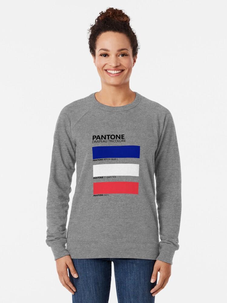 Vista alternativa de Sudadera ligera Pantone Drapeau Tricolore Paleta de colores de bandera francesa