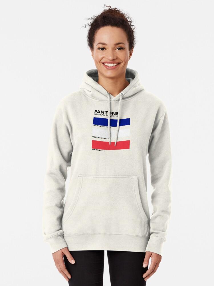 Vista alternativa de Sudadera con capucha Pantone Drapeau Tricolore Paleta de colores de bandera francesa