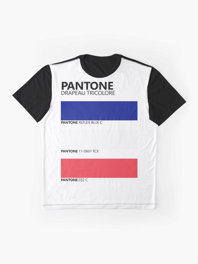 Vista alternativa de Camiseta gráfica Pantone Drapeau Tricolore Paleta de colores de bandera francesa