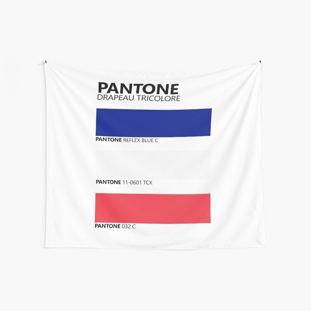 Pantone Drapeau Tricolore Paleta de colores de bandera francesa Tela decorativa