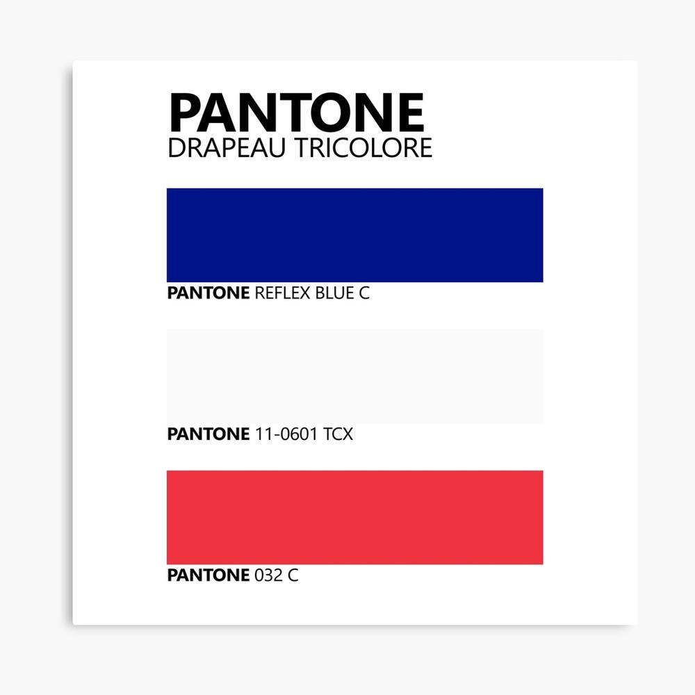 Pantone Drapeau Tricolore Paleta de colores de bandera francesa Lienzo