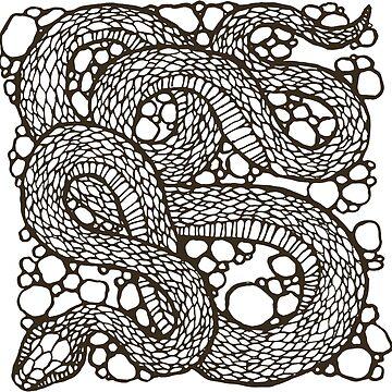 Graphic snake by Zhivova