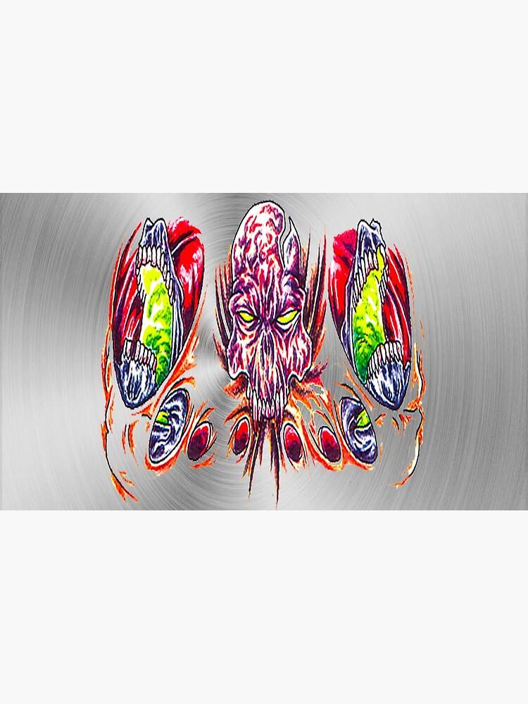 fwc 0015 tatoo dämon schädel von fwc-usa-company