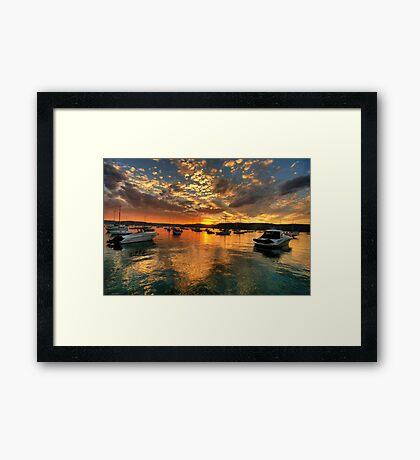 Sunset Mooring - Paradise Beach, Sydney - The HDR Experience Framed Print