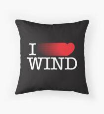 I LOVE WIND Throw Pillow