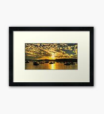 Golden Blessing - Newport , Sydney - The HDR Experience Framed Print