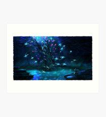 Subnautica - Ghost Ray Tree Art Print
