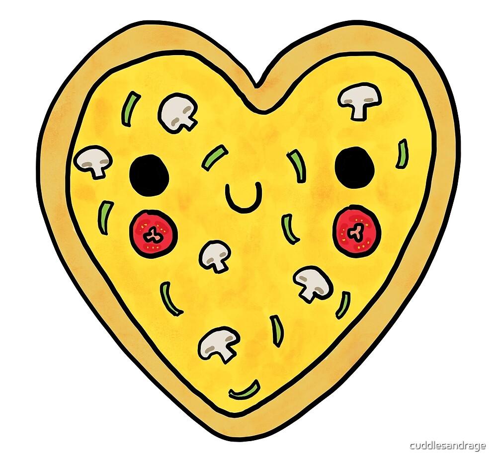 Love You, Veggie Pizza! by cuddlesandrage