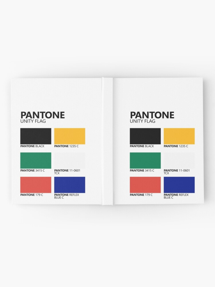 Vista alternativa de Cuaderno de tapa dura Paleta de colores de bandera de unidad sudafricana de Pantone