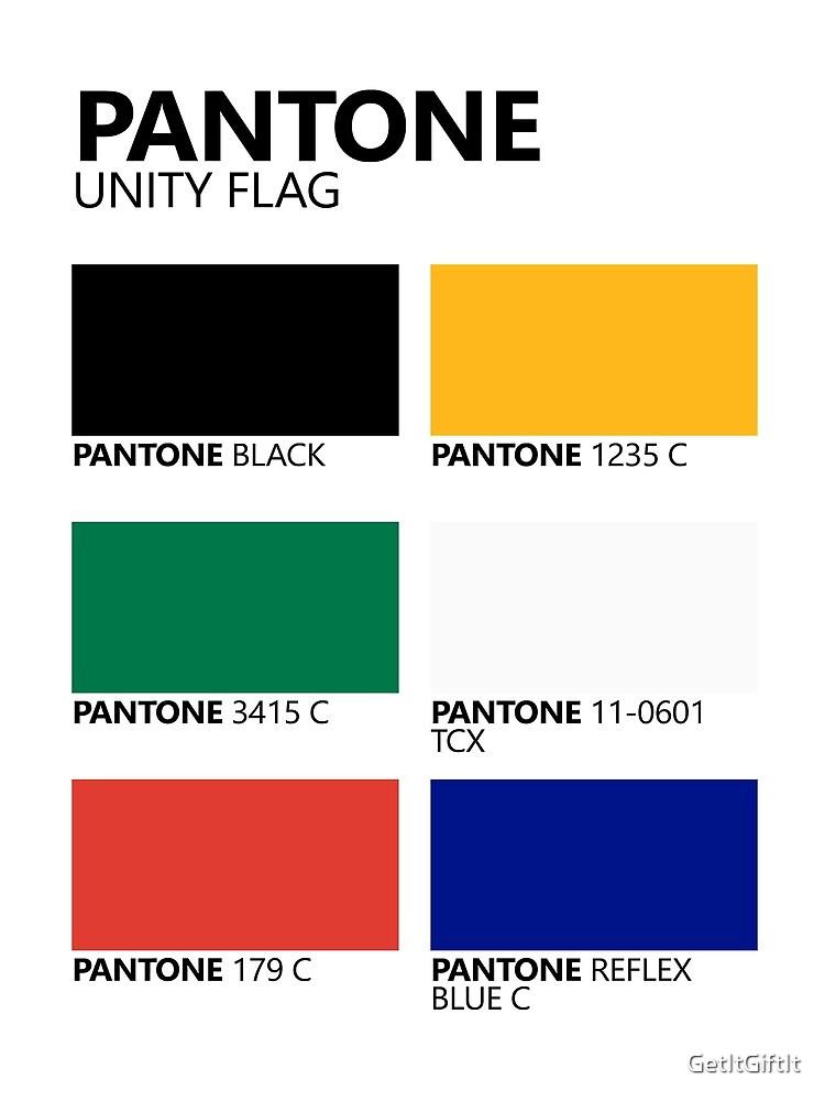 Paleta de colores de bandera de unidad sudafricana de Pantone de GetItGiftIt