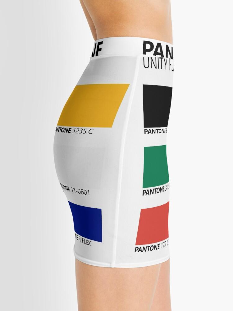 Vista alternativa de Minifalda Paleta de colores de bandera de unidad sudafricana de Pantone