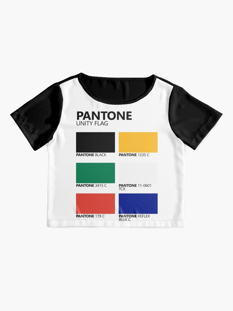 Vista alternativa de Blusa Paleta de colores de bandera de unidad sudafricana de Pantone