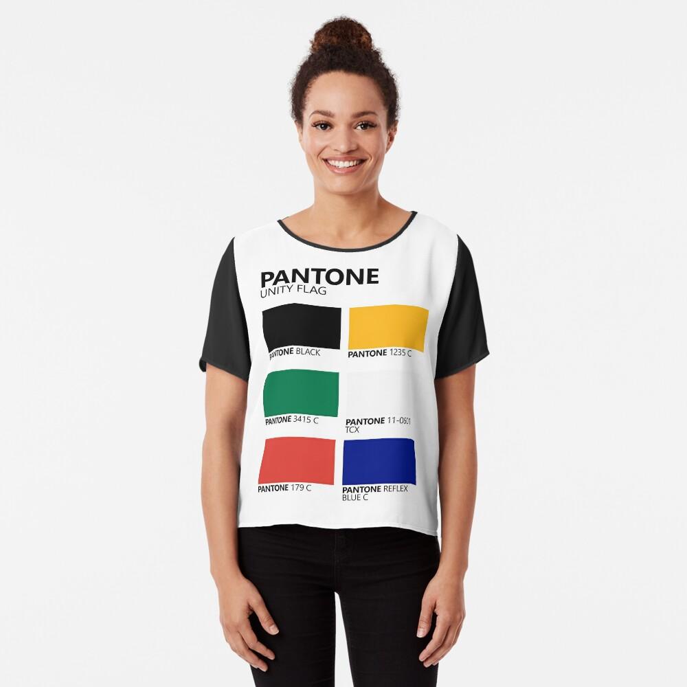 Paleta de colores de bandera de unidad sudafricana de Pantone Blusa
