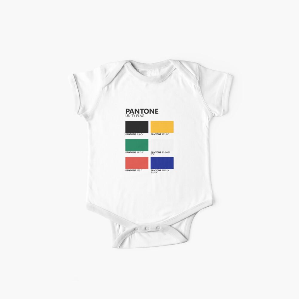 Paleta de colores de bandera de unidad sudafricana de Pantone Body para bebé