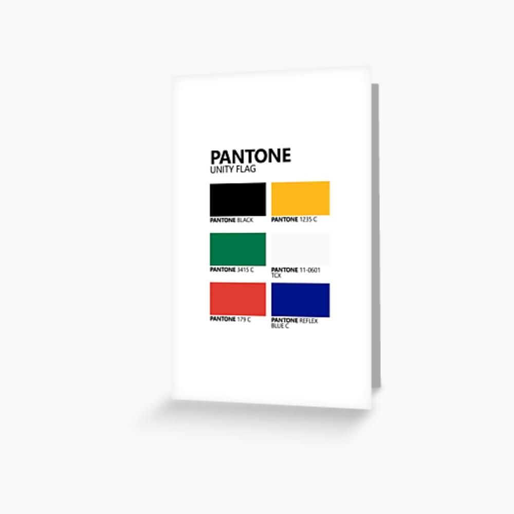 Paleta de colores de bandera de unidad sudafricana de Pantone Tarjetas de felicitación