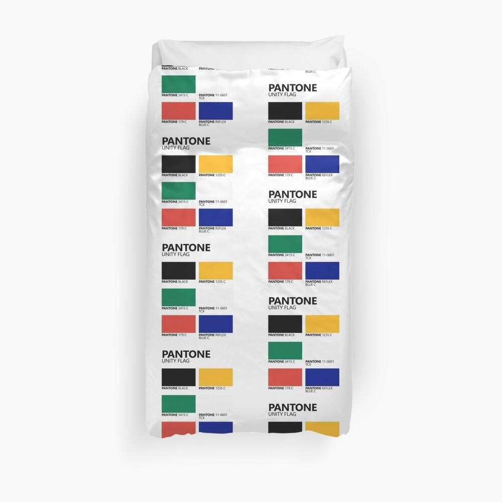 Paleta de colores de bandera de unidad sudafricana de Pantone Funda nórdica