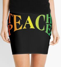Teach Peace Mini Skirt