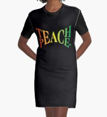 Teach Peace Graphic T-Shirt Dress