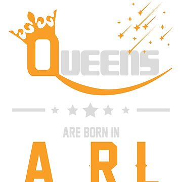 Queens Are Born in April Birthday Gift  by ArtOfHappiness