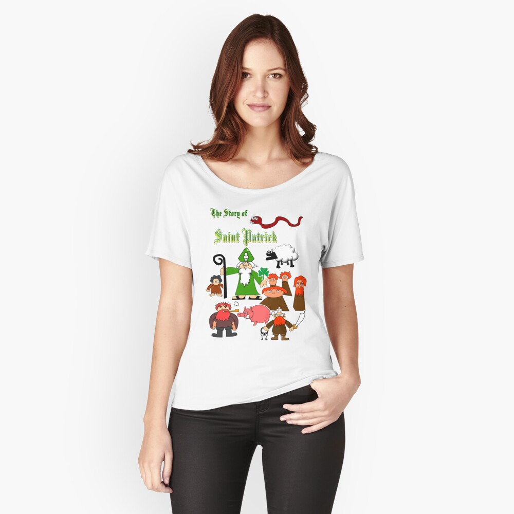 The Story Of Saint Patrick Women's Relaxed Fit T-Shirt Front