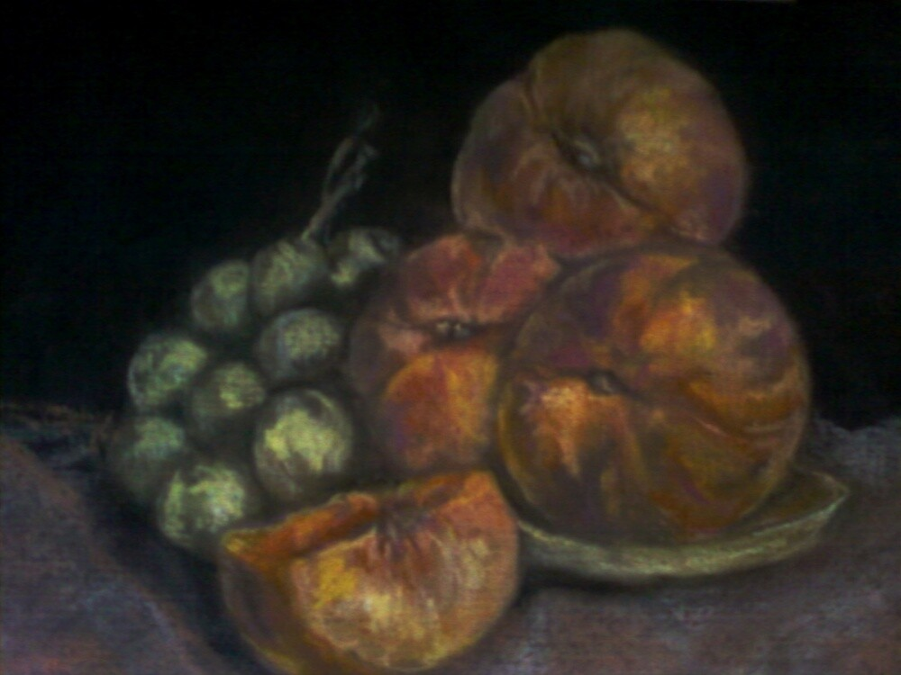 peaches and olives still life by cicalese653