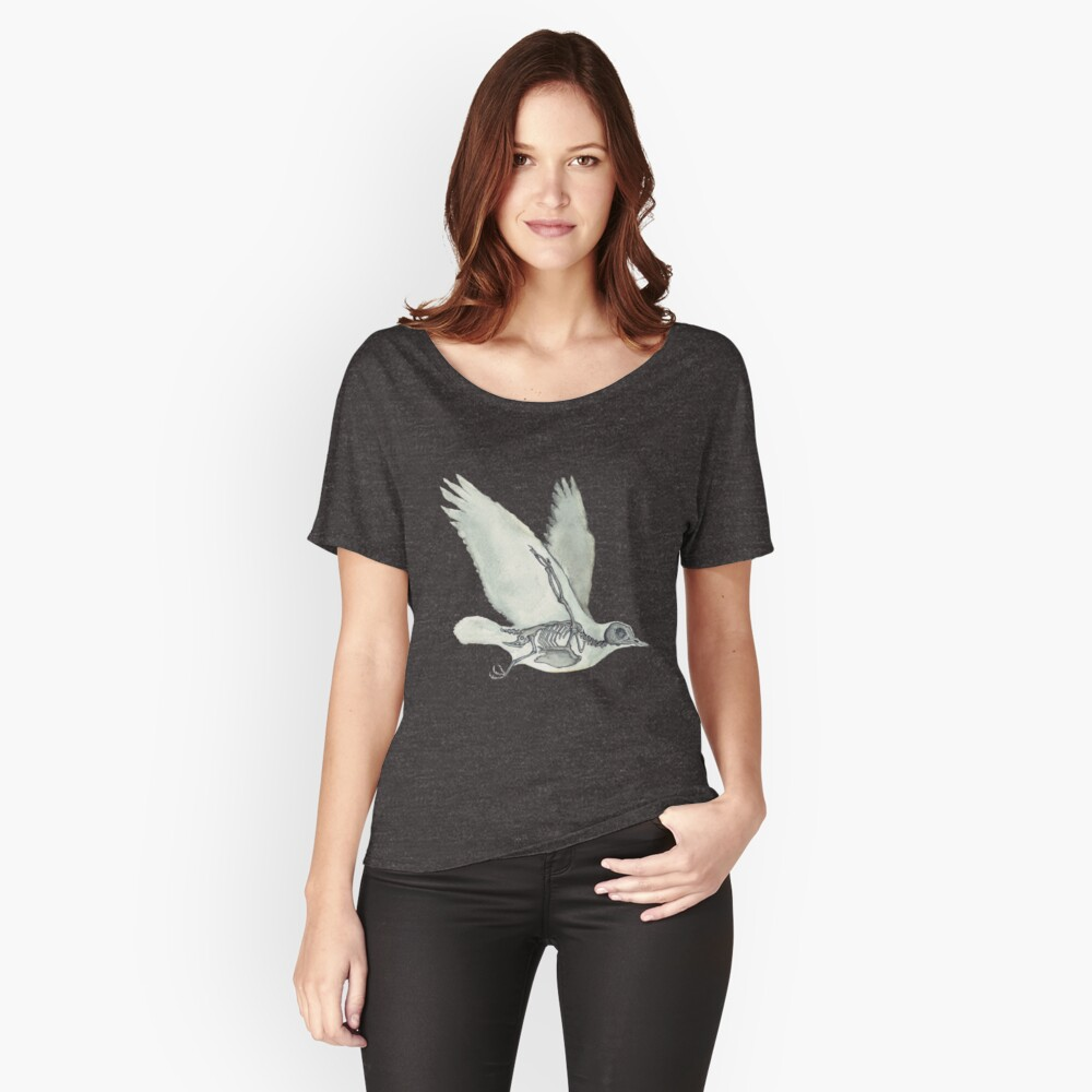 Bird Skeleton: Animal Dove Anatomy Relaxed Fit T-Shirt
