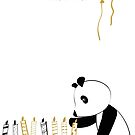 Panda and candles - happy birthday by grafart