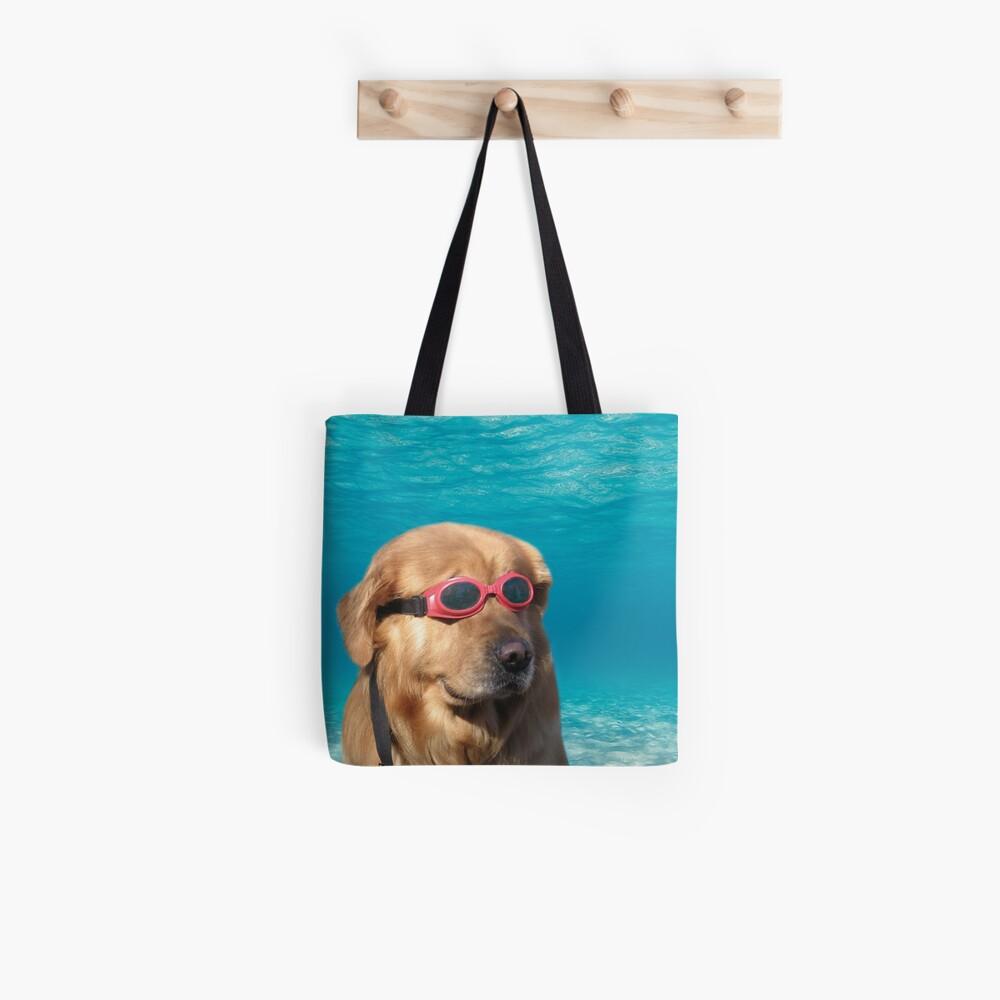 Swimmer Dog Tote Bag