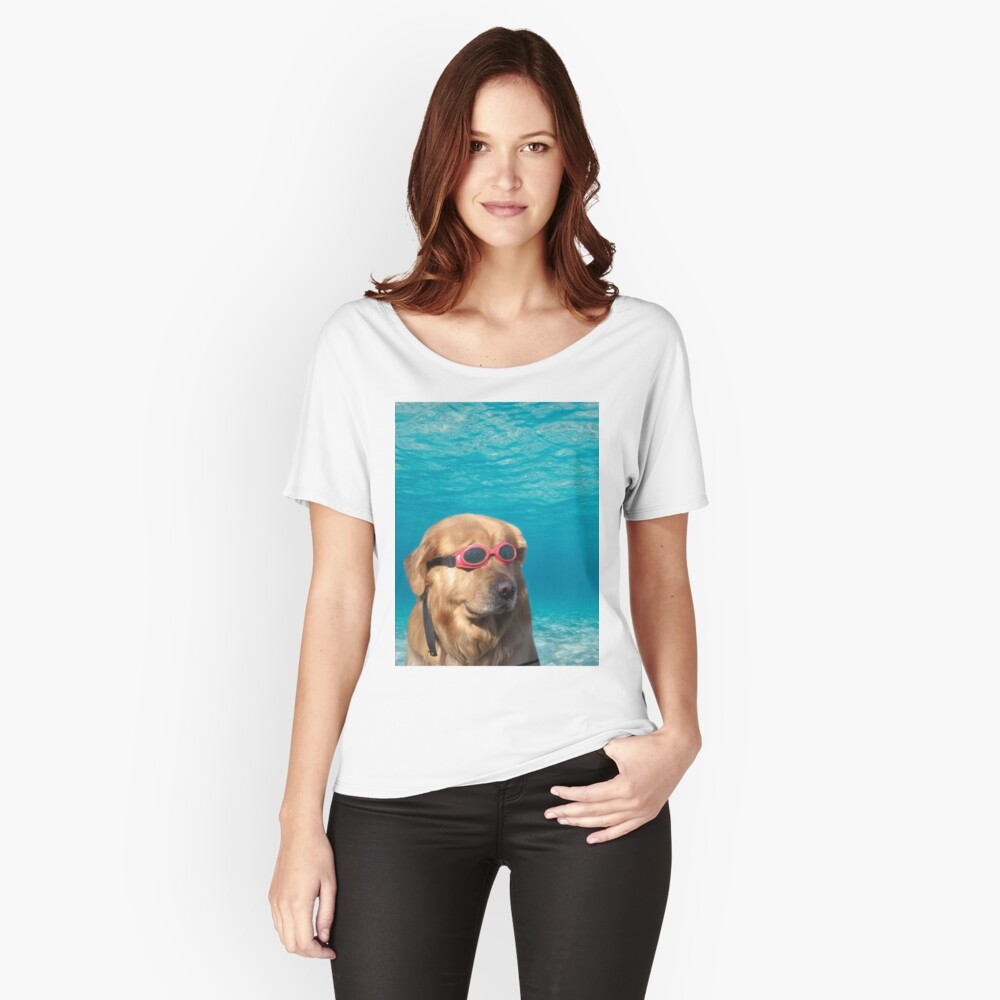 Swimmer Dog Relaxed Fit T-Shirt