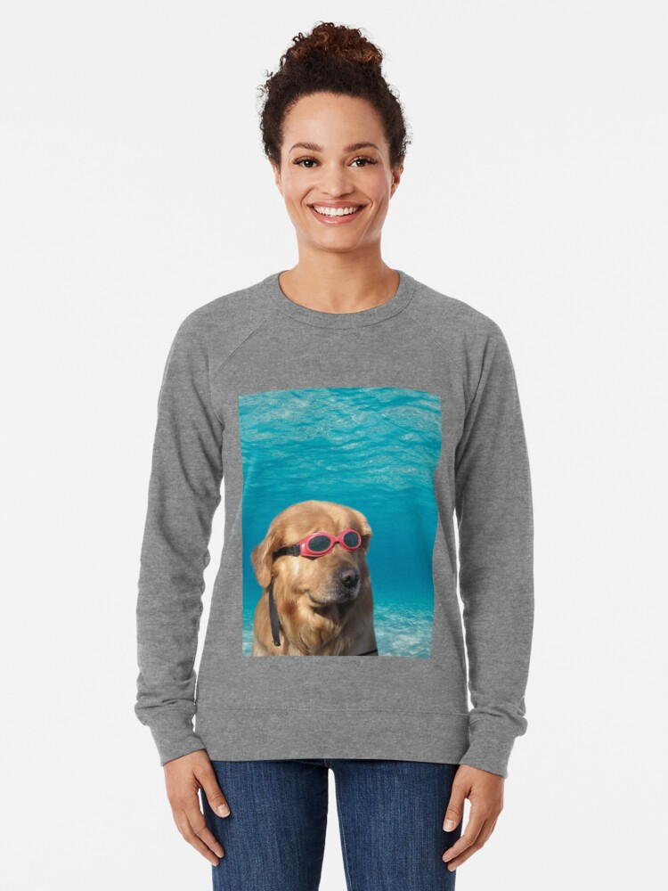 Alternate view of Swimmer Dog Lightweight Sweatshirt